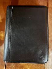 2000 Real Leather Franklin Covey Classic 7 Ring Binder Planner 10 X 8 Mint