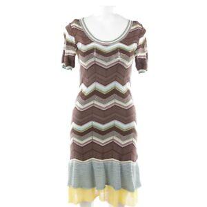 Dress De 42 Damen Multicolor Kleid 36 M Stretchkleid It Missoni Robe Gr aHRqzwFt