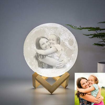 Personalized Moon Lamp 3D Printed Custom Photo Light as Kids Daughter Girls Gift