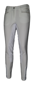 Pikeur  Leslie McCrown Full Seat Womens Breeches - White  save 60% discount and fast shipping worldwide
