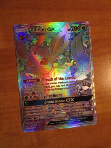 NM FULL ART Pokemon LEAFEON GX Card ULTRA PRISM Set 157//156 Hyper Secret Rare
