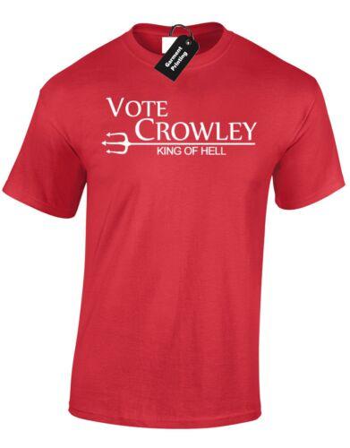 VOTE Crowley roi des enfers T shirt homme Winchester Supernatural frères nouveau