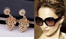 E613 Betsey Johnson Grape Tutti Frutti Fruit Wedding Accessories Earrings US