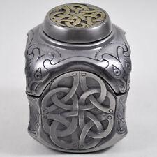 Celtic Patterned Trinket Box Yin Yang Design Cold Cast Bronze H9cm NEW 16025
