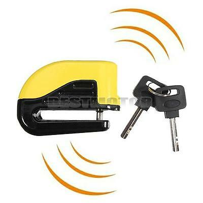 Yellow Motorcycle Pit Bike Scooter Anti-theft Disc Disk Brake Wheel Alarm Lock