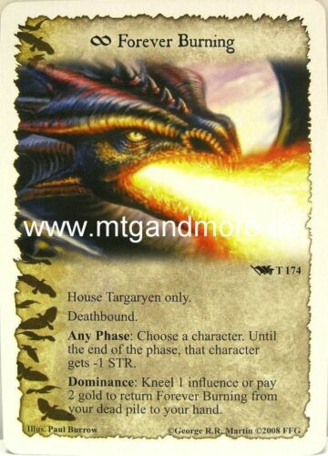 base set A Game of thrones 1x Forever Burning #174