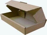 50 Brown Corrugated Cardboard Pizza Boxes 9.5x5x2.5