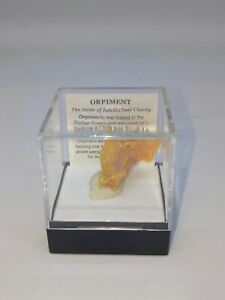 COLLECTORS-CUBE-MINERAL-SPECIMEN-ORPIMENT-2-FREE-HARD-CUBE-CASE