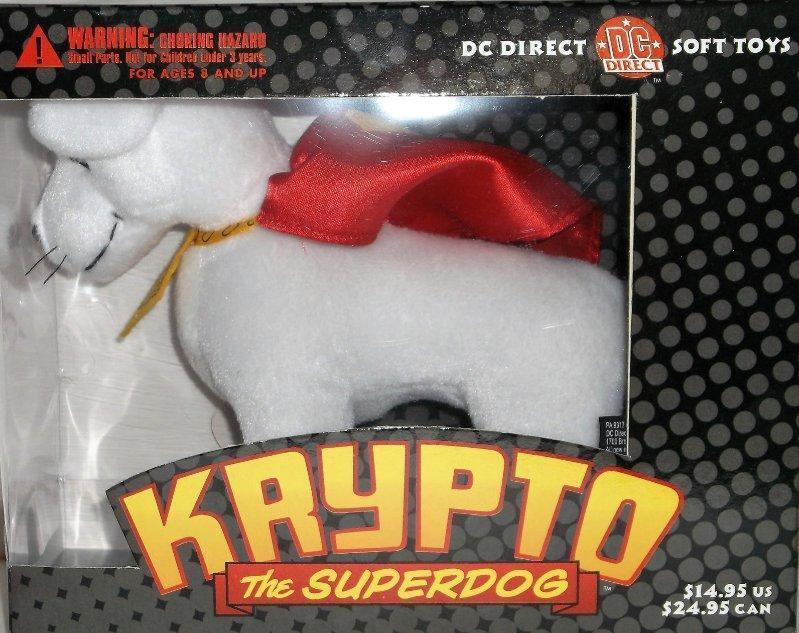 Dc Direct Krypto The Superdog Giocattolo Morbido Superman's Animale Cane Raro