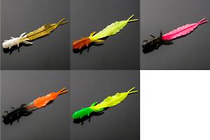 10x-Forellenkoeder-75mm-1-3g-Gummikoeder-Kaeferlarve-Wasserinsekt-Trout-Bait