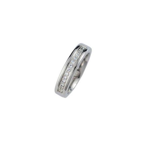 "MAGNETIX Ring 1871 /""Zirkonia Edelstahl/"" Breite 5mm Magnetschmuck"
