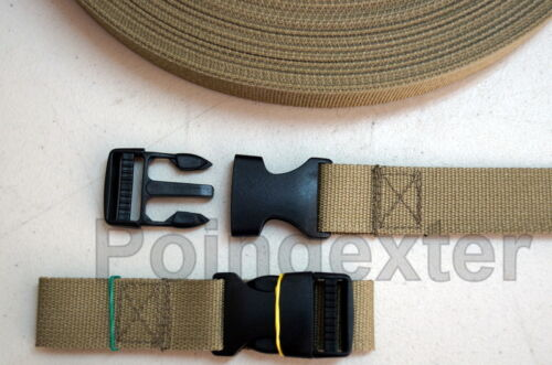 Your Color Choice USA 1 Inch Molle II Rucksack Cinch Straps Load Lifter Straps