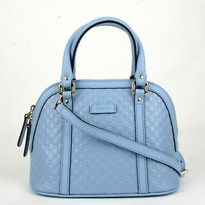 3fc406ce5cd1 Image is loading Gucci-Light-Blue-Micro-Guccissima-Leather-Mini-Crossbody-