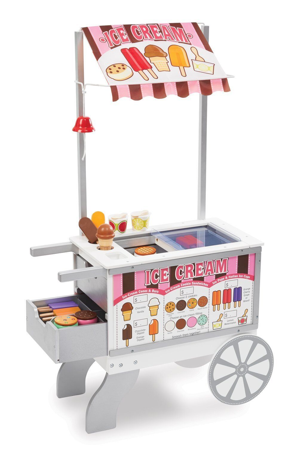 Melissa And Doug Ice Cream Cart Wooden Wooden Wooden Stand For Kids Lemonade Outdoor Toys Port a0d29e