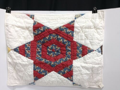 Pottery Barn Harrisburg Star Patchwork Bed Bedroom Quilted Pillow Sham Standard