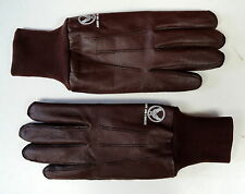 USAAF TYPE A-10 PILOT LEATHER FLYING GLOVES W/LABELS - SZ MEDIUM