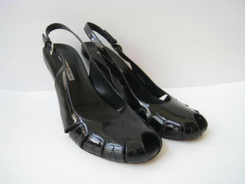 8m chaud Via Hot 8m toes très verni noir Talon Taille Spiga Size 3 Super Sandales 180 po peep 5 en cuir de heel 180 qRrWwFaqBS
