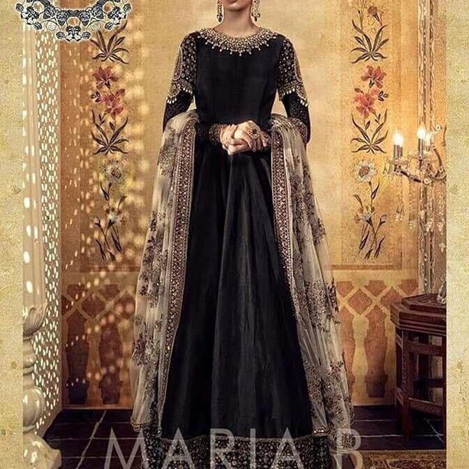Maria B Pakistani Designer 3 Pcs Maxi Wedding  Bridal Silk Collection.Unstitched