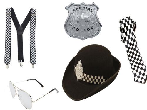 WOMEN GIRLS POLICEWOMAN SET COP FANCY DRESS HEN PARTY POLICE HAT COSTUME KIT