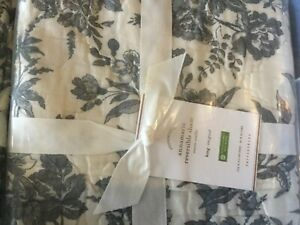 NEW-Pottery-Barn-Annamaria-Reversible-Quilted-King-Shams-set-of-2-CHARCOAL-GRAY