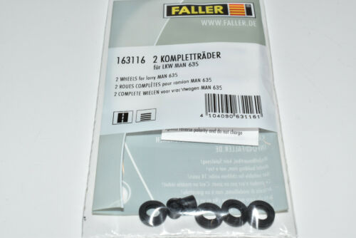 Faller Car System 163116 2 Stück Kompletträder Felge /& Reifen LKW NEU OVP 161713
