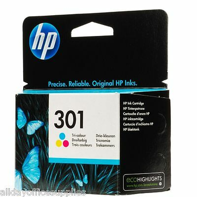 Genuine Original HP 301 Colour CH562EE Ink Cartridge for HP Deskjet 3050A