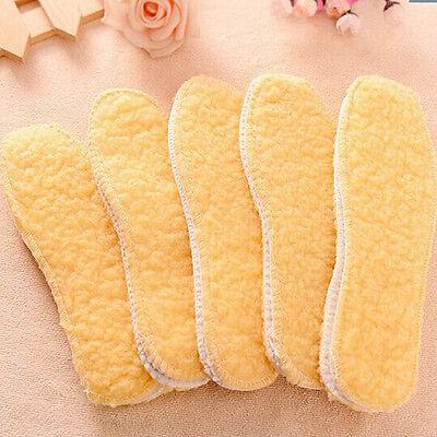 1Pair New Men Women Insoles Warm Soft Wool Winter Shoe Pads Size 35-44 Hot Sold