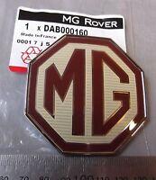 New Genuine MG TF Front / Rear Badge Emblem Burgundy / Cream 70mm DAB000160