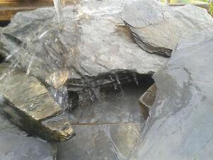 Zum Gestalten Eines Bachlauf Teichrand Teich Wasse Keine Kostenlosen Kosten Zu Irgendeinem Preis 1€/kg Niedrigerer Preis Mit 25 Kg Schieferplatten