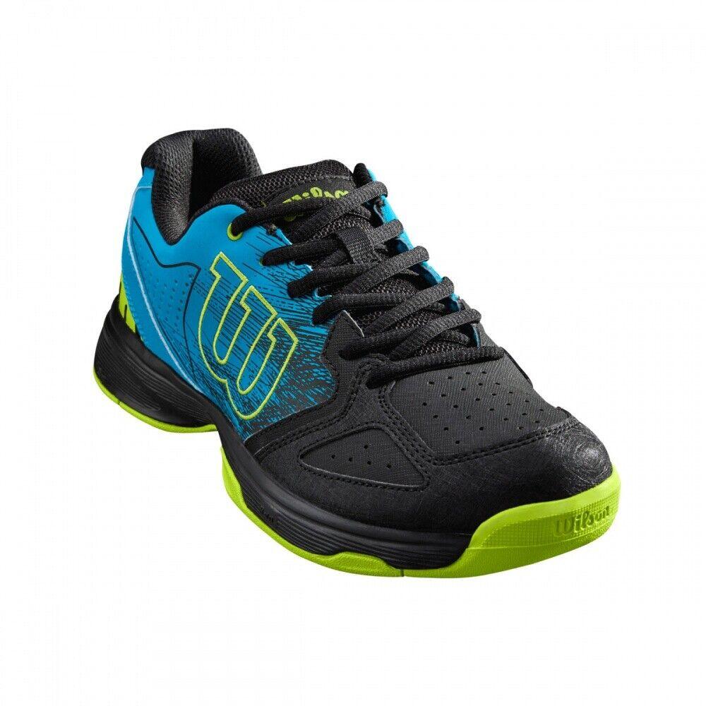 Wilson Kaos Kaos Kaos Stroke Junior Tennisschuhe Sandplatz schwarz blau NEU 1a4b09