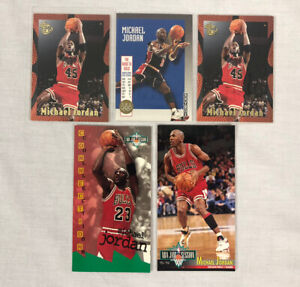 Lot-of-5-Michael-Jordan-NBA-Basketball-Cards-Skybox-USA-11-Embossed-Jam-Session