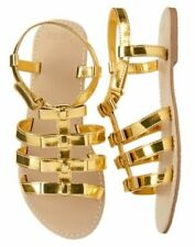 NWT Gymboree Clog Gold Wedge Sandals Shoes Girls 9,10,12