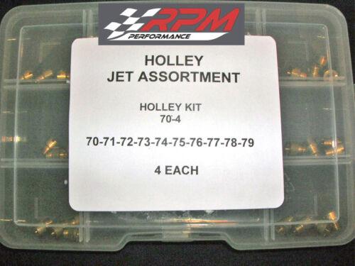 Holley Carburetor 1//4-32 GAS MAIN JETS ASSORTMENT KIT 70-79 4 EACH 40PACK 70-4