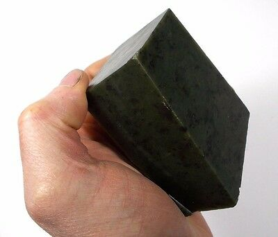 BC Jade 510gr Raw 100% Natural Canadian Deep Mingled Green Nephrite  ACKTONN