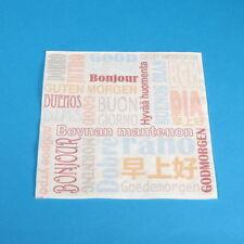 """1000 Tissue Servietten Zellstoffservietten """"Guten Morgen"""" 33x33cm 3lg 1/4"""