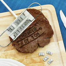 Changeable Letters Barbecue Name /& Hot BBQ Branding Iron Tool Set Steak Outdoor