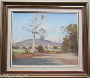 Nice-John-Sharman-Original-Oil-on-Board-40-cm-x-32cm-Australian-landscape