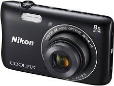 NIKON Coolpix S3700 20.1MP Digital Photography Camera 8 x Zoom BLACK* BUNDLE KIT