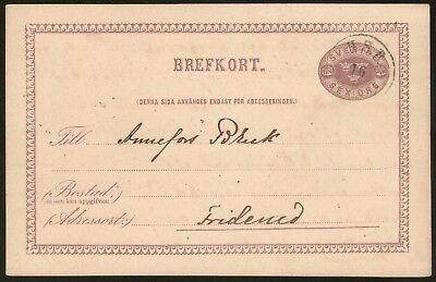 """1877-1884 Weich Und Rutschhemmend Bahnpost """"h.s.b."""" hjo-stenstorp-banan Auf P7ii Schweden Ca"""