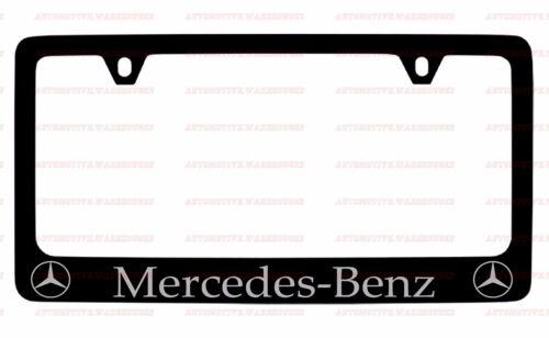 MERCEDES BENZ BLACK  PLASTIC LICENSE PLATE FRAME 1