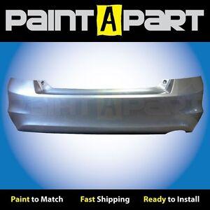2008-2009-2010-2011-2012-Honda-Accord-Sedan-Rear-Bumper-Painted-NH700-Silver-Met