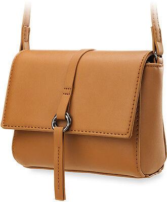 kleine schöne Schultertasche Damentasche mit Trageriemen graphit