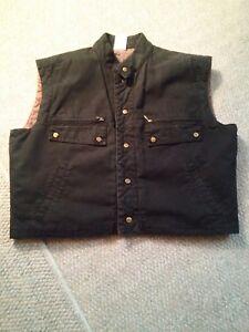 007-Generra-Reversible-Black-Vest-Size-40-Men-039-s-Rugged
