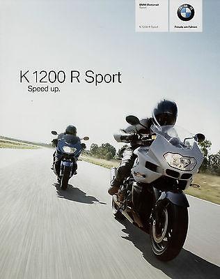 100% QualitäT Bmw K 1200 R Sport Prospekt 9/06 2006 Motorradprospekt Motorrad Brochure Catalog