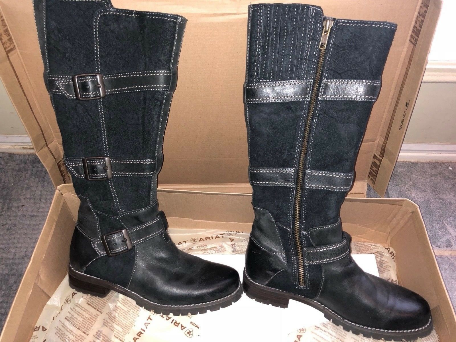Wouomo ARIAT nero HIGHLAND Riding stivali Dimensione US 6 B Med Width
