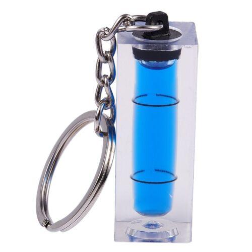 Mini Wasserwaage Diy Gadgets Keyring Keychain Tool Schlüsselbund Wasserwaage 5P9