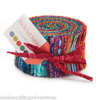 Moda Fabric Jelly Roll De La Sol Batiks 40 - 2.5 Strips