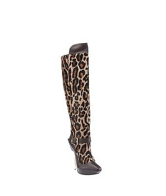 Versace Brown Pony Hair Over the Knees Boots, Size 38