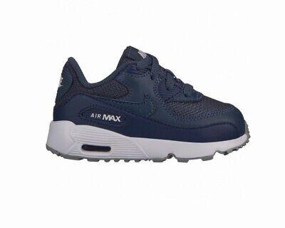 Nike Air Max 90 Mesh TD 833422 410 Bébé Garçons Baskets Bleu Chaussures | eBay