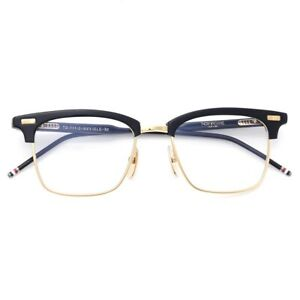 8f28d49020b7 THOM BROWNE TB-711-C-NVY-GLD-52 TITANIUM GOLD OPTICAL FRAME GLASSES ...